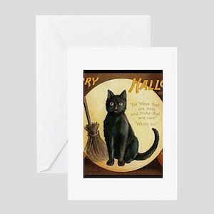 Vintage Merry Halloween Greeting Card