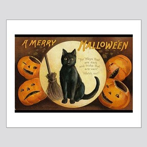 Vintage Merry Halloween Small Poster