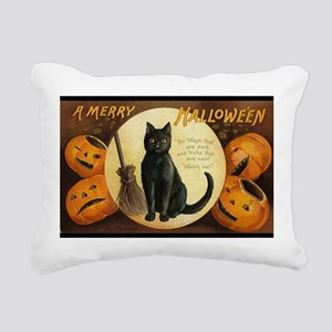 Vintage Merry Halloween Rectangular Canvas Pillow