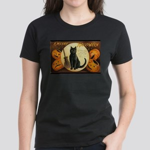Vintage Merry Halloween Women's Dark T-Shirt