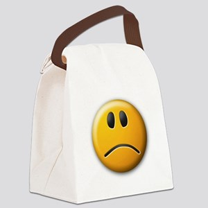 sadface Canvas Lunch Bag