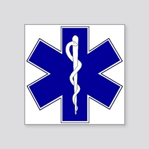 "star-of-life Square Sticker 3"" x 3"""