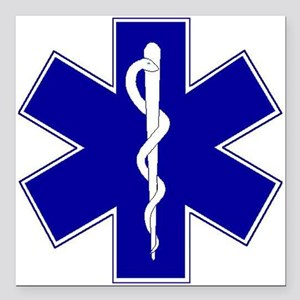 """star-of-life Square Car Magnet 3"""" x 3"""""""