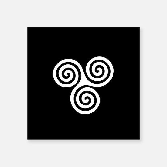 """spiral.gif Square Sticker 3"""" x 3"""""""