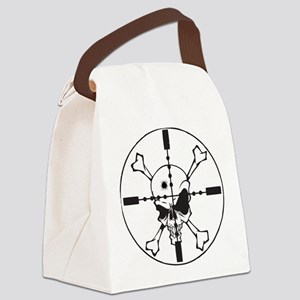 Skull_in_Scope2sm Canvas Lunch Bag