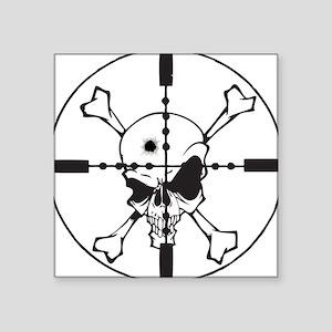 "Skull_in_Scope2sm Square Sticker 3"" x 3"""