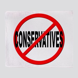 Anti / No Conservatives Throw Blanket