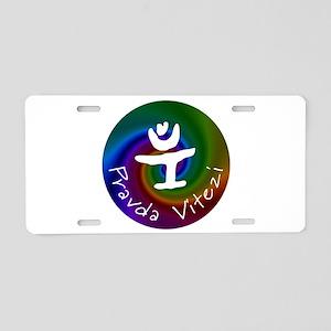 Pravda Vitezi Aluminum License Plate