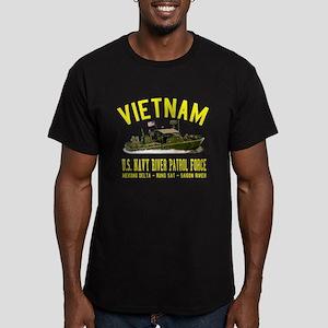 Vietnam Navy PBR Men's Fitted T-Shirt (dark)