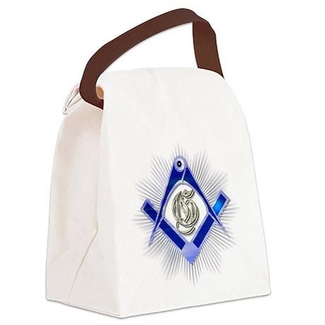 SquareandCompass1.bmp Canvas Lunch Bag