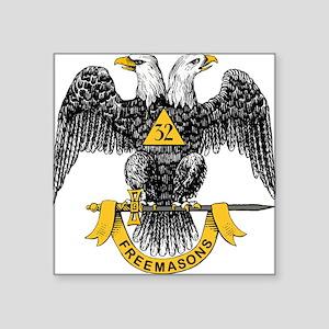 "32_eagle_hi_res_Freemasons Square Sticker 3"" x"