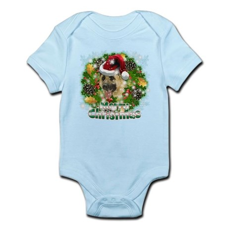 Merry Christmas German Shepherd.png Infant Bodysui