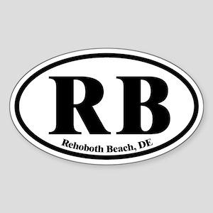 RB Rehoboth Beach Oval Sticker (Oval)