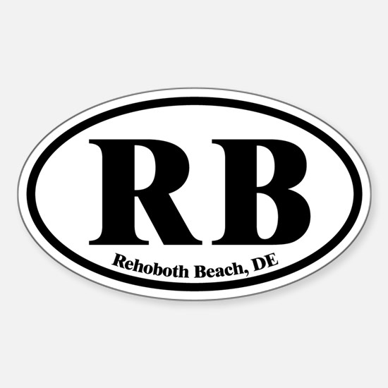 RB Rehoboth Beach Oval Sticker (Oval)