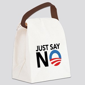 Just Say No Canvas Lunch Bag
