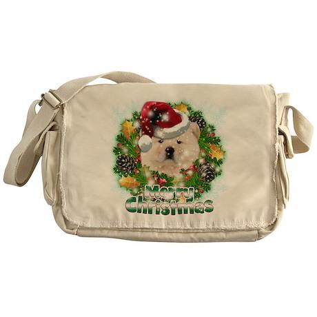 Merry Christmas Chow Chow.png Messenger Bag