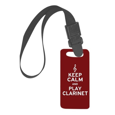 Keep Calm Clarinet Small Luggage Tag