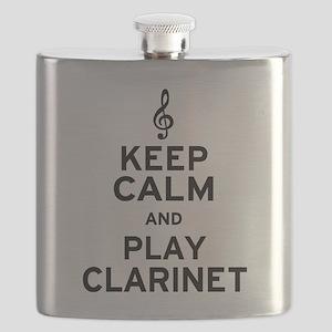 Keep Calm Clarinet Flask
