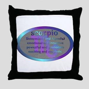 scorpioWM Throw Pillow