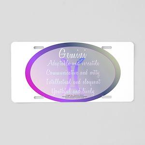 Gemini Aluminum License Plate