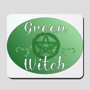 green witch clear Mousepad