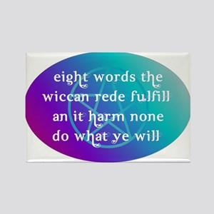 wiccan rede Rectangle Magnet