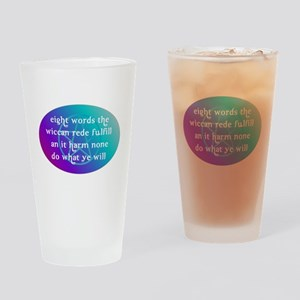 wiccan rede Drinking Glass