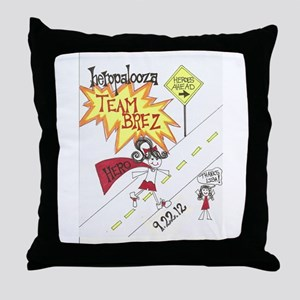 Team Brez Throw Pillow
