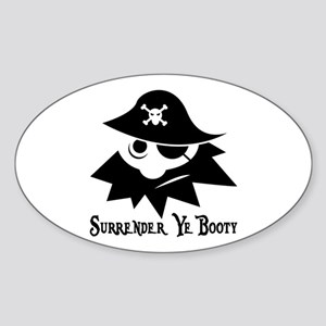 Pirate Booty Sticker (Oval)