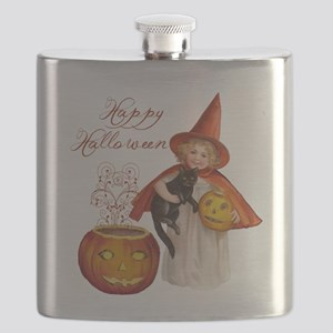 Vintage Halloween witch Flask