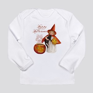 Vintage Halloween witch Long Sleeve Infant T-Shirt