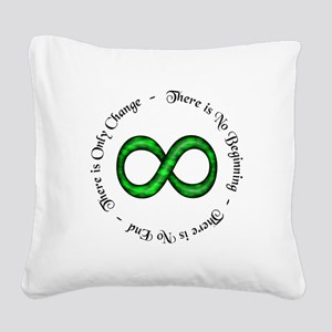 Infinite Change Square Canvas Pillow