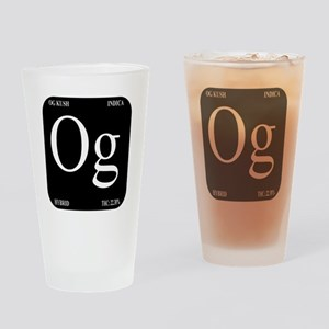 Black Logo Drinking Glass