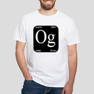 Black Logo White T-Shirt