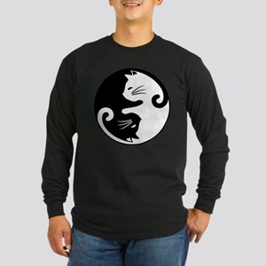YIN YANG CUTE CATS Long Sleeve T-Shirt