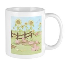 Sunflowers - Pigs Mug
