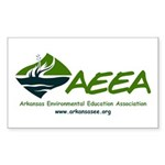 AEEA Logo with text and Sticker (Rectangle 10 pk)