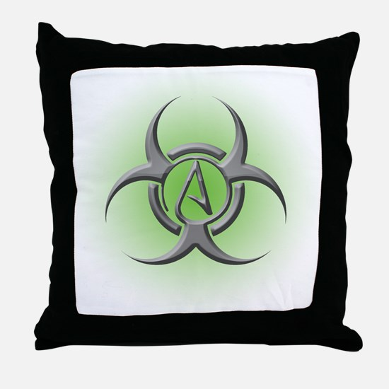 Toxic Atheist Throw Pillow