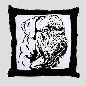Dogue De Bordeaux. Throw Pillow