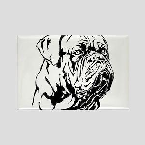 Dogue De Bordeaux. Rectangle Magnet
