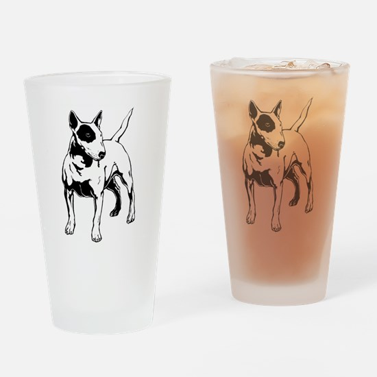 English Bull Terrier Drinking Glass
