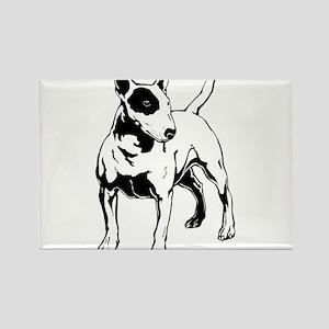 English Bull Terrier Rectangle Magnet