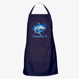 PERSONALIZED Ocean Shark Apron (dark)