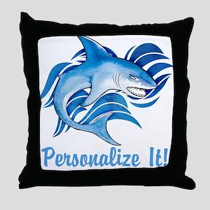 PERSONALIZED Ocean Shark Throw Pillow