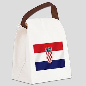 Croatian National Flag Canvas Lunch Bag
