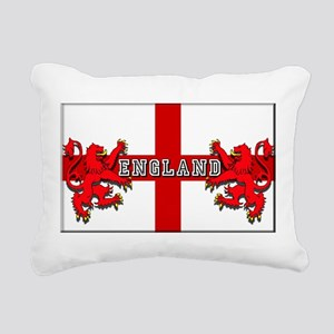 England Lion Flag Rectangular Canvas Pillow