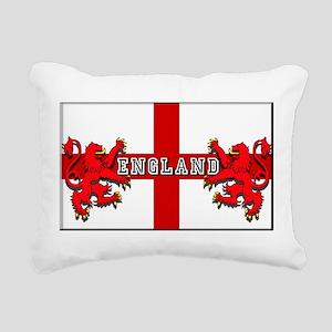 England Lion Flag Rectangular Canvas Pillow