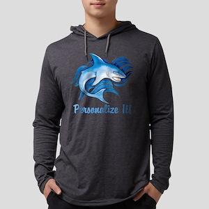 PERSONALIZED Ocean Shark Mens Hooded Shirt