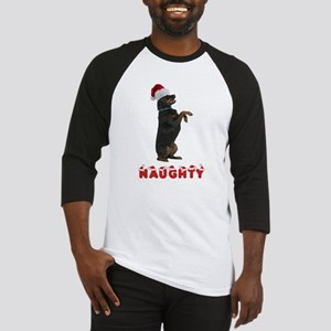 Naughty Rottweiler Baseball Jersey