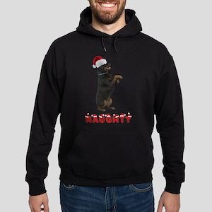 Naughty Rottweiler Hoodie (dark)